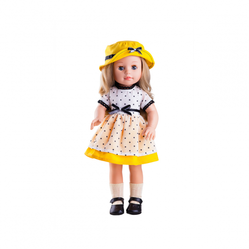 Кукла Soy Tu Эмма, в желтой шляпке, 42 см