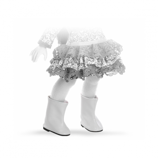 Сапоги белые для кукол 32 см