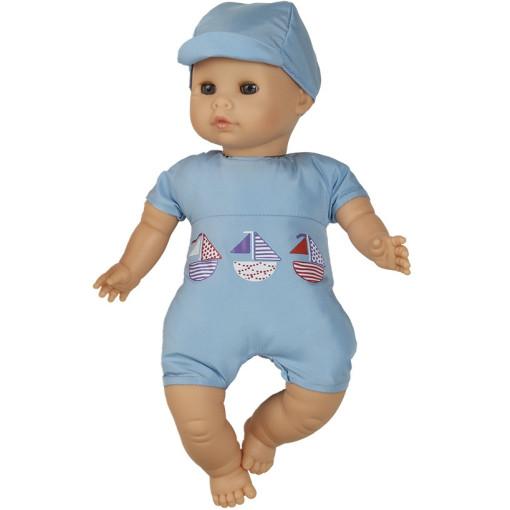 Кукла Малыш в голубом, 34 см