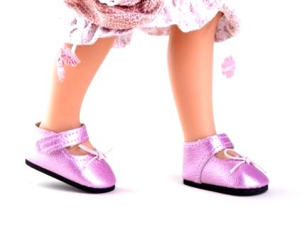 Туфли розовые для кукол 32 см