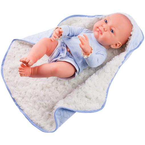 Одежда синяя с одеяльцем для куклы Бэби, 36 см