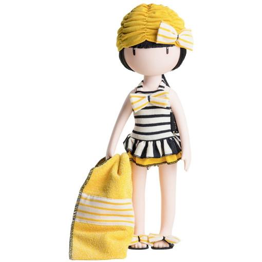 Купальник с шапочкой и полотенцем для кукол Горджусс