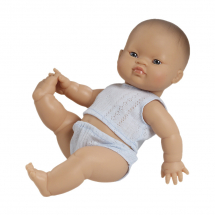 Пупс Горди в голубой пижаме, мальчик, азиат, 34 см