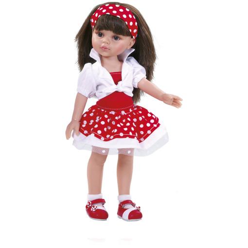 Одежда красно-белое платье для куклы Кэрол, 32 см