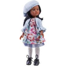 Одежда голубой костюм для куклы Нора, 32 см