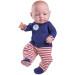 Кукла Бэби в красных ползунках, 45 см, мальчик