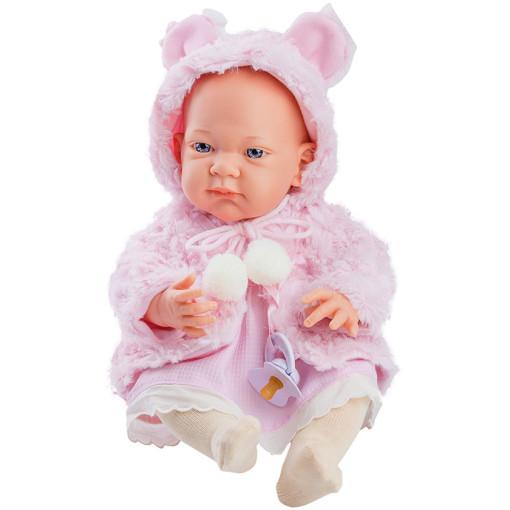 Кукла Бэби в розовой накидке, 36 см