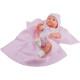 Кукла Бэби с розовым пледом, 32 см