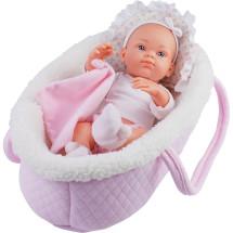 Кукла Бэби в розовой переноске, 32 см