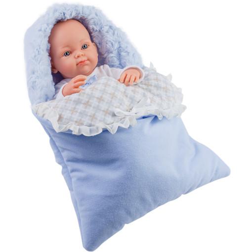 Кукла Бэби в теплом голубом конверте, 32 см