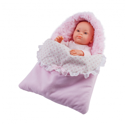 Кукла Бэби в теплом розовом конверте, 32 см