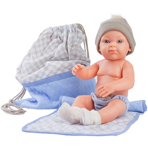Кукла Бэби с рюкзаком и одеяльцем, 32 см, голубой