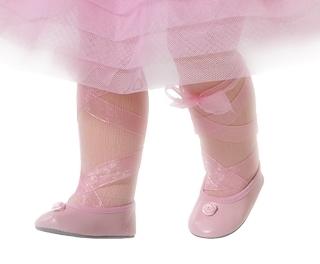 Туфли с цветочком, для кукол 60 см