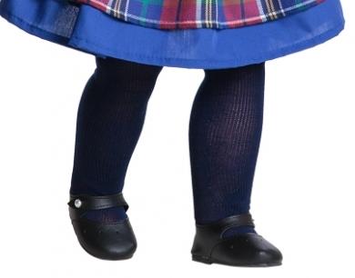 Туфли черные, для кукол 60 см
