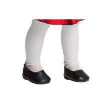 Туфли черные, для кукол 42 см