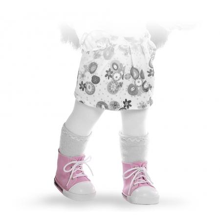 Кроссовки розовые, для кукол 42 см