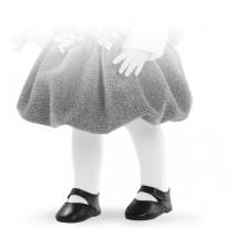 Туфли черные на липучке, для кукол 42 см
