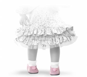 Туфли с цветочком, для кукол 42 см