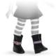 Сапоги черные с пряжкой, для кукол 42 см