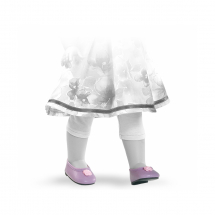 Туфли сиреневые с цветочком, для кукол 42 см