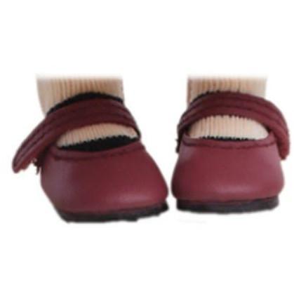 Туфли бордовые, для кукол 32 см