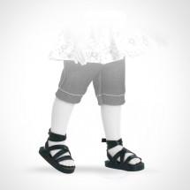 Сандалии черные, для кукол 32 см