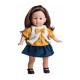 Кукла Вирджи в синей юбке, 36 см
