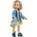 Кукла Карла в голубом пальто с цветочным рюкзачком, 32 см