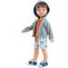 Кукла Висент в кофте с капюшоном, 32 см