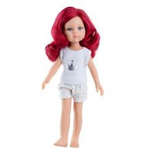 Кукла Даша с красными волосами, в пижаме, 32 см