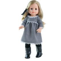 Кукла Soy Tu Эмма в сером платье, 42 см