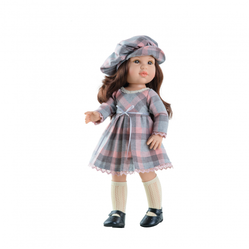 Кукла Soy Tu Эшли в клетчатом платье, 42 см