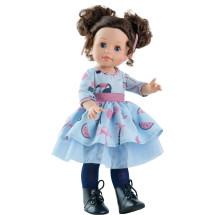 Кукла Soy Tu Эмили в голубом платье с розовым поясом, 42 см