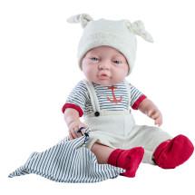 Кукла Бэби мальчик с полосатым полотенчиком, 45 см