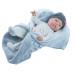 Кукла Бэби девочка в теплом одеяльце, 45 см