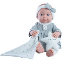 Одежда серое платье для куклы Бэби, 32 см