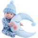 Одежда голубой комбинезон для куклы Бэби, 36 см