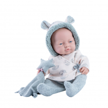 Одежда пижама с ушками для куклы Бэби, 45 см