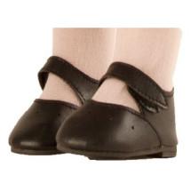 Туфли черные с застежкой-липучкой, для кукол 60 см