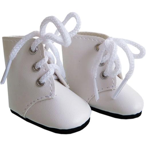 Ботинки высокие белые, для кукол 32 см