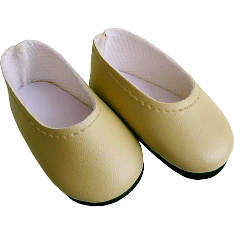 Туфли светло-бежевые, для кукол 32 см