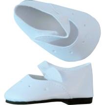 Туфли белые на липучке, для кукол 60 см