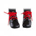 Ботинки черные с красными шнурками, для кукол 32 см