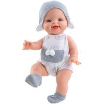 Комбинезон с помпонами носочки и шапочка для кукол Горди 34 см