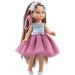 Кукла Джудит в серо-розовом платье с цветочным венком, 21 см