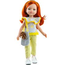 Кукла Лиу в топе с котиками, 32 см