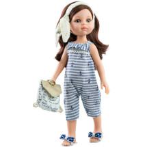 Кукла Кэрол в полосатом комбинезоне, 32 см