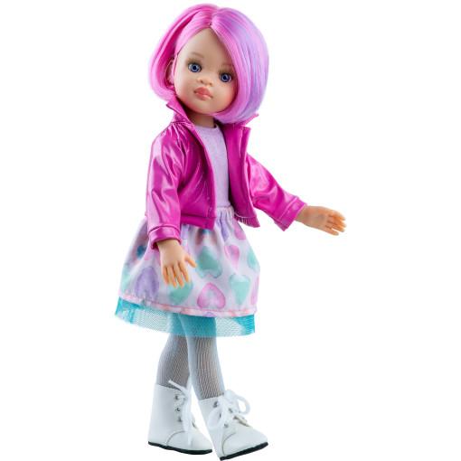 Кукла Ноэлия в ярко-розовом жакете, 32 см