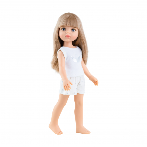 Кукла Карла, русая с челкой, в пижаме, 32 см