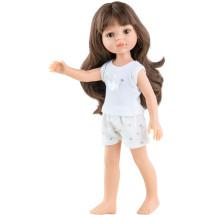 Кукла Кэрол, шатенка с челкой, в пижаме, 32 см